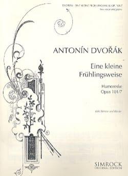 DVORAK - Eine Kleine Frühlingsweise Op. 101-7 Voix Grave - Partition - di-arezzo.fr