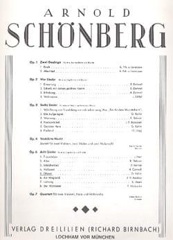 Ghasel Op. 6-5 - Arnold Schoenberg - Partition - laflutedepan.com
