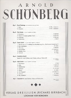 Arnold Schoenberg - Alles Op. 6-2 - Partition - di-arezzo.fr