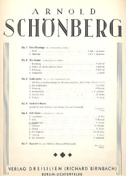 Arnold Schoenberg - Mädchenlied Op. 6-3 - Partition - di-arezzo.fr