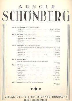 Mädchenlied Op. 6-3 - Arnold Schoenberg - Partition - laflutedepan.com