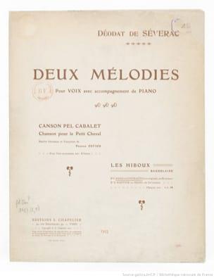 Déodat de Séverac - Les Hiboux. Basse Ou Contralto - Partition - di-arezzo.fr