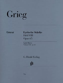 Lyrische Stucke Heft 8 Opus 65 GRIEG Partition Piano - laflutedepan