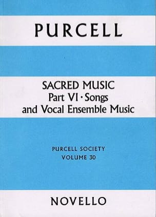 Sacred Music part 6 - PURCELL - Partition - Chœur - laflutedepan.com