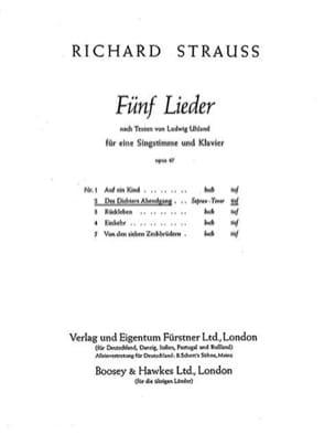 Richard Strauss - Dichters Abendgang Op. 47-2. Deep voice - Sheet Music - di-arezzo.com