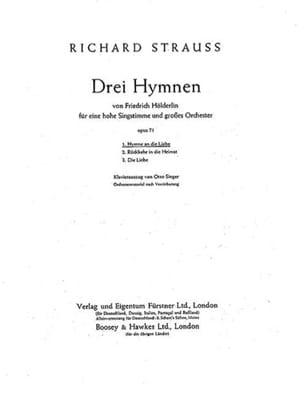 Hymne An Die Liebe Op. 71-1. Voix Haute - laflutedepan.com
