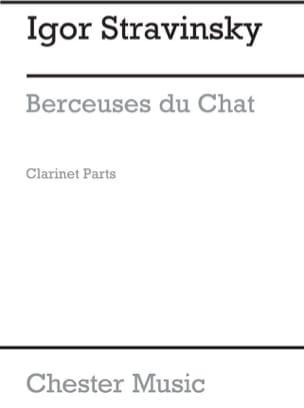 Igor Stravinski - Berceuses Du Chat. 3 Clarinettes. Archive - Partition - di-arezzo.fr