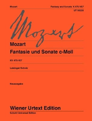 MOZART - Fantasy and Sonata In C Minor K 475/457 - Sheet Music - di-arezzo.co.uk