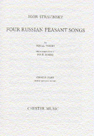 4 Russian Peasant Songs. Version 1954 STRAVINSKY laflutedepan