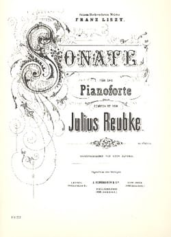 Julius Reubke - Sonate - Partition - di-arezzo.fr