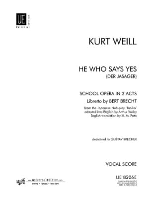 He Who Says Yes Der Jasager - Kurt Weill - laflutedepan.com