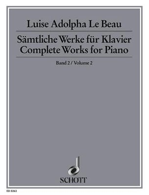 Beau Luise Adolpha Le - Complete Works For Piano Vol 2 - Partition - di-arezzo.fr