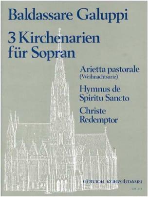 Baldassare Galuppi - 3 Kirchenarien Für Soprano - Sheet Music - di-arezzo.com