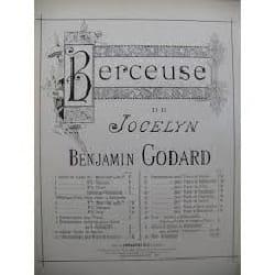 Benjamin Godard - Berceuse. Jocelyn. N°2 - Partition - di-arezzo.fr