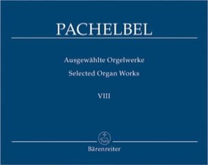 Oeuvre Pour Orgue Volume 8 PACHELBEL Partition Orgue - laflutedepan