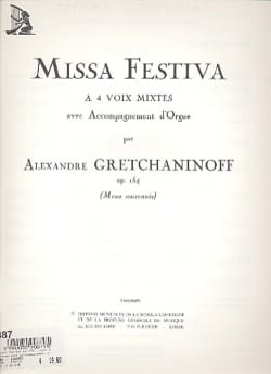Missa Festiva Opus 154 Alexander Gretchaninov Partition laflutedepan