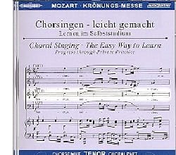 MOZART - Krönungs-Mass. KV 317 Tenor CD - Sheet Music - di-arezzo.co.uk