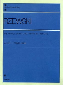 Frederic Rzewski - The United People Will Never Be Defeated - Sheet Music - di-arezzo.com