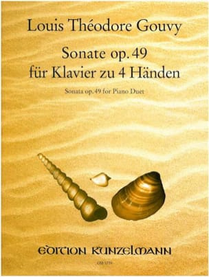 Louis Théodore Gouvy - Sonate Op. 49. 4 Mains - Partition - di-arezzo.fr
