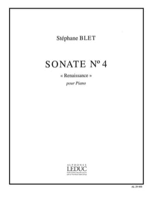 Stéphane Blet - Sonate N° 4 op. 40 - Partition - di-arezzo.fr