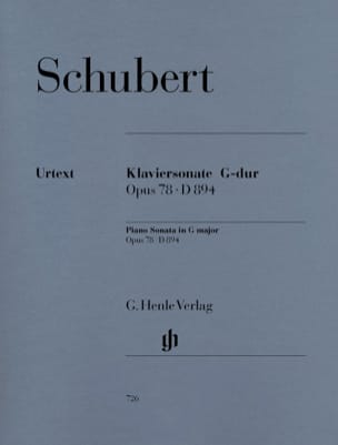 SCHUBERT - Sonata for piano in G major op. 78 D 894 - Sheet Music - di-arezzo.co.uk