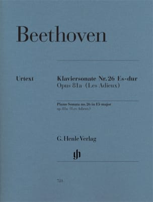 BEETHOVEN - Piano Sonata No. 26 in E flat major Opus 81a - Sheet Music - di-arezzo.com