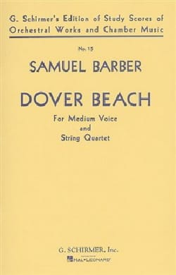 Dover Beach Opus 3 Conducteur Samuel Barber Partition laflutedepan