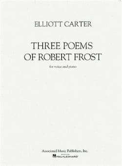 Elliott Carter - 3 Poems Of Robert Frost - Partition - di-arezzo.fr