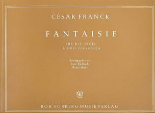 César Franck - Fantaisie En Ut En 3 Versions - Partition - di-arezzo.fr