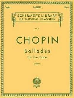 Ballades - Frédéric Chopin - Partition - Piano - laflutedepan.com