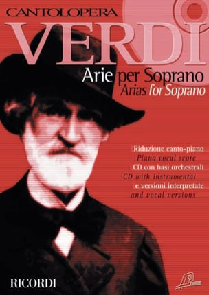 Arie For Soprano. Volume 1 VERDI Partition Opéras - laflutedepan