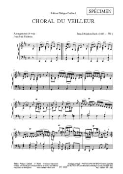 BACH - Choral Watcher - Sheet Music - di-arezzo.com