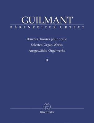 Alexandre Guilmant - Oeuvres Choisies Pour Orgue Volume 2 - Partition - di-arezzo.fr