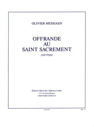Offrande Au Saint-Sacrement MESSIAEN Partition Orgue - laflutedepan