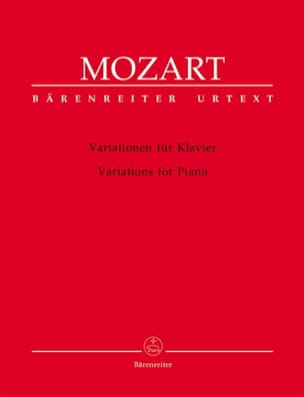 MOZART - Variations Pour Piano - Partition - di-arezzo.fr