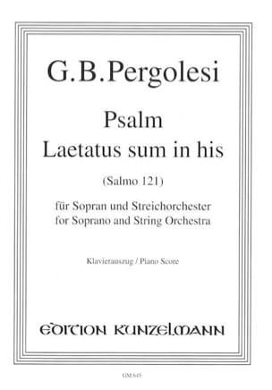 Laetatus Sum In His PERGOLESE Partition Mélodies - laflutedepan