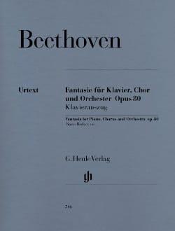 Ludwig van Beethoven - Fantaisie Op. 80. Voir Breitkopf - Partition - di-arezzo.fr