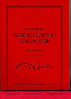 22 Composizioni Vocali Da Camera - Vincenzo Bellini - laflutedepan.com