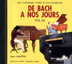 DE BACH A NOS JOURS - バッハから現代まで - ボリューム5A - CD - 楽譜 - di-arezzo.jp