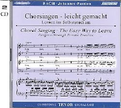 BACH - Passion Selon Saint-Jean BWV 245. CD Ténor - Partition - di-arezzo.fr