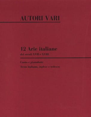 - 12 Arie Italiane Dei Secoli 17 et 18 - Partition - di-arezzo.fr