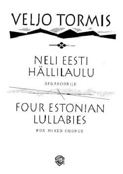 Veljo Tormis - Neli Eesti Hällilaulu - Sheet Music - di-arezzo.co.uk