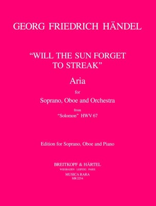 HAENDEL - Will The Sun Forget To Streak - Partition - di-arezzo.fr