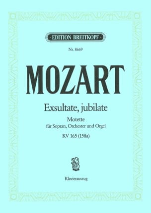 MOZART - Exsultate, Jubilate. Kv 165 158a - Sheet Music - di-arezzo.co.uk