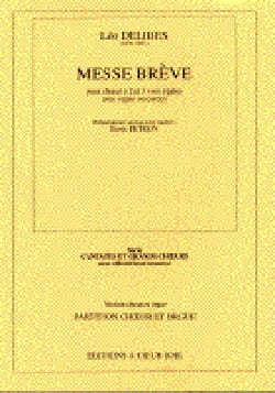 Léo Delibes - Brief Mass. - Sheet Music - di-arezzo.co.uk