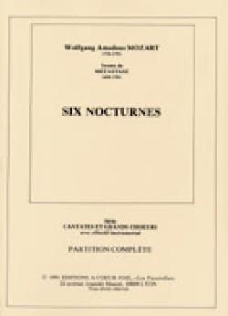 MOZART - 6 Nocturnes - Sheet Music - di-arezzo.co.uk