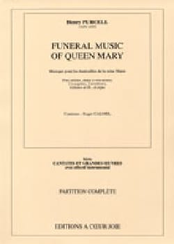 Funeral Music Of Queen Mary. Choeur seul PURCELL laflutedepan