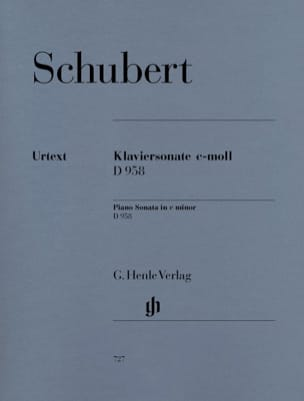 Sonate pour piano En Ut Mineur D 958 - SCHUBERT - laflutedepan.com
