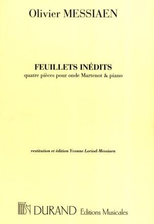 Feuillets Inédits - Olivier Messiaen - Partition - laflutedepan.com