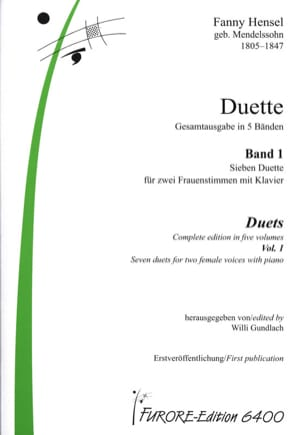 Fanny Hensel-Mendelssohn - Duette Volume 1 - Partition - di-arezzo.co.uk